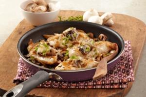 mushroom bruschetta chicken skillet